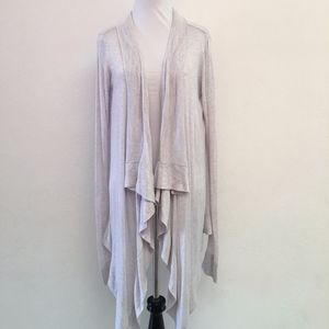 Lululemon White Gray Open Cardigan Size 4